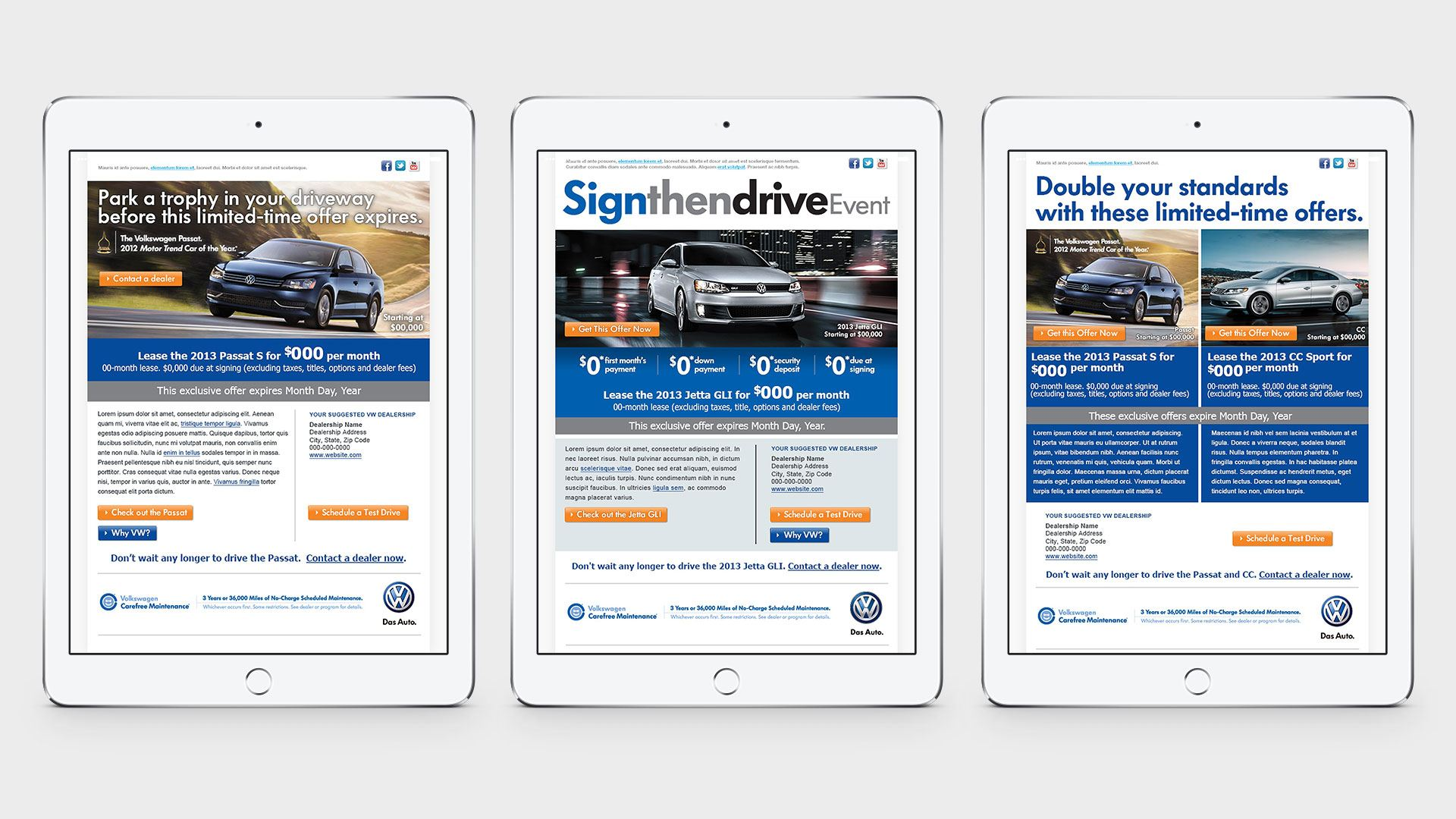 Volkswagen Email Campaigns